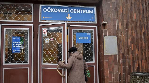 Vakcinační centrum v budově ČVUT. Ilustrační foto.