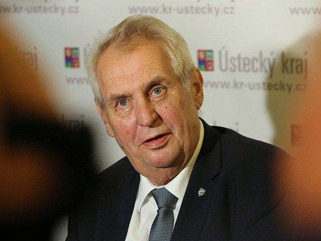 Prezident Miloš Zeman navštívil Šluknov