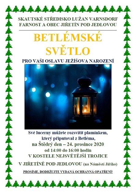 Betlémské světlo - plakát.