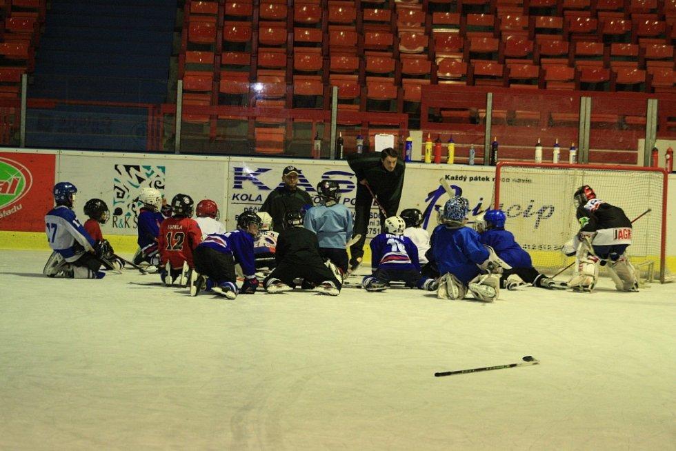 NÁVŠTĚVA. Slavomír Lener trénoval mladé děčínské hokejové naděje.