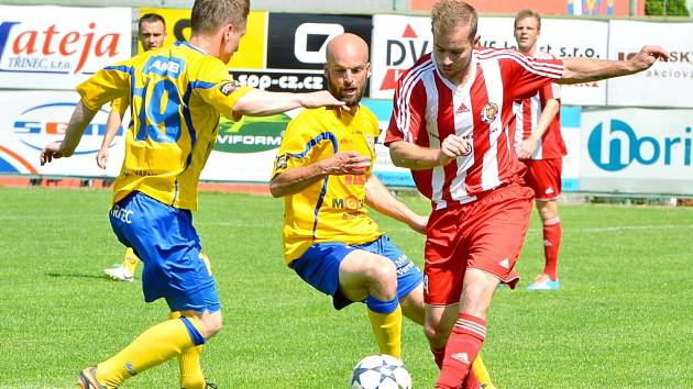 BEZ BODU se domů vrátil Varnsdorf, když v Třinci prohrál 0:1.