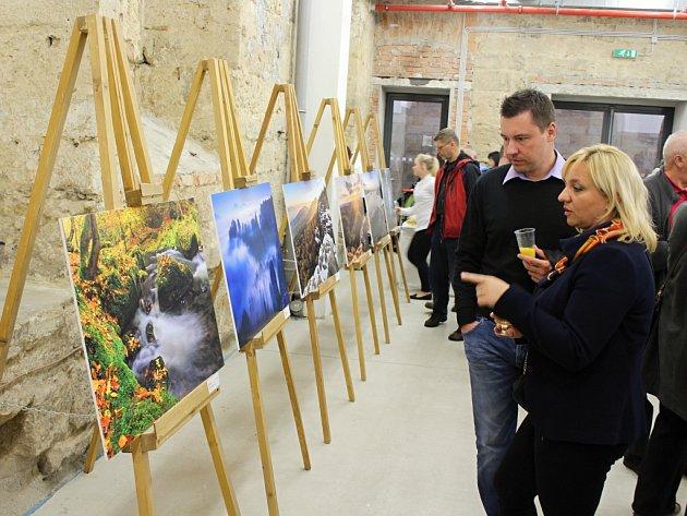 Vernisáž výstavy fotografií z Česko - Saského Švýcarska.