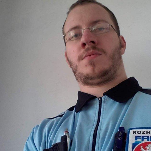 Jan Kotík, fotbalový rozhodčí, který působí vokresních soutěžích na Děčínsku.