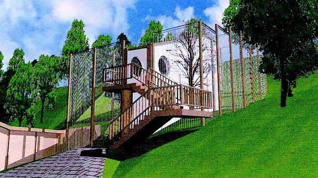 Vizualizace nových pavilonů v děčínské zoo