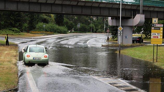 Déšť opět zkomplikoval život v Děčíně