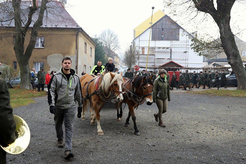 Hubertská jízda ve Šluknově.