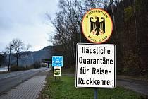 Hranice mezi Českem a Německem.
