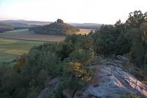 Výhled z Kaiserkrone na Zirkelstein.