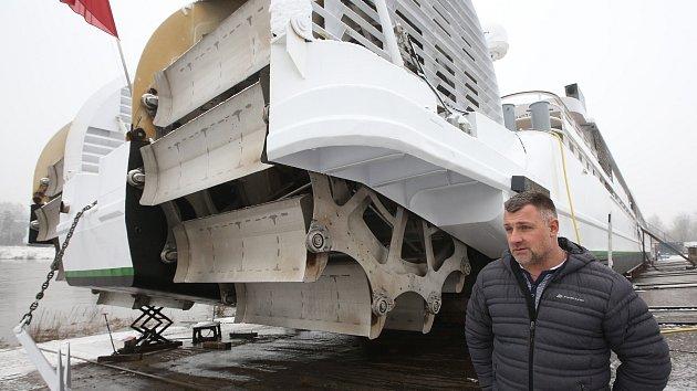 Unikátní loď Elbe Princesse je nyní k vidění v děčínských lodenicích