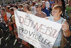 Demonstrace ve Varnsdorfu 2.10.2011.