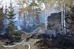 Požár mezi Sněžníkem a Ostrovem