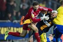 Miroslav Samoel ještě v dresu Varnsdorfu při druholigovém utkání proti Opavě.