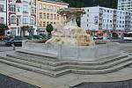 Kašna na Masarykově náměstí.