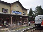 Mikulášovice dolní nádraží.