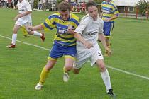 Ve druhém kole Fortuna ligy prohrály doma Šluknov i Rumburk. Snímek je z jejich vzájemného utkání.
