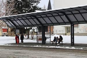 Nové autobusové nádraží ve Varnsdorfu.