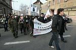 Demonstrace ve Varnsdorfu 29.1.2012.