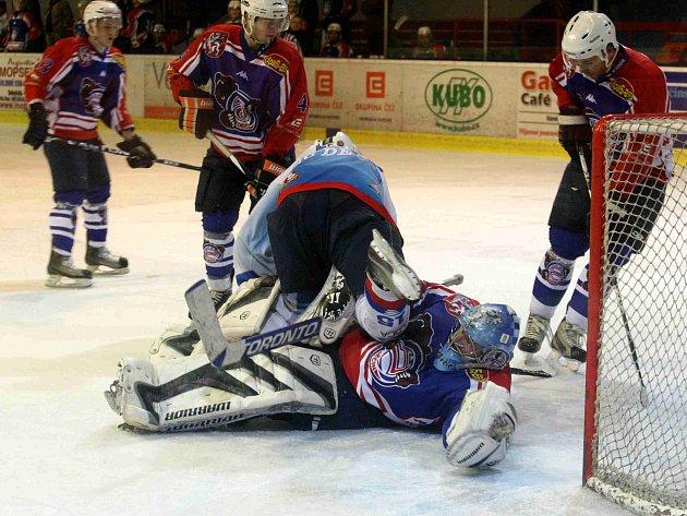 Exhibiční utkání výběru II.NHL proti mužstvu HC Děčín A