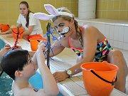 Děti se bavily v děčínském aquaparku.