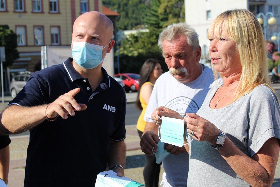 Mítink hnutí ANO v Děčíně