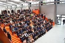Slavnostní otevření nové budovy průmyslové školy TOS Varnsdorf.