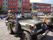 Historická vojenská technika v Rumburku.