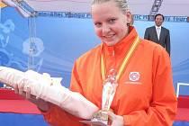 Iva Meidlová s trofejemi.