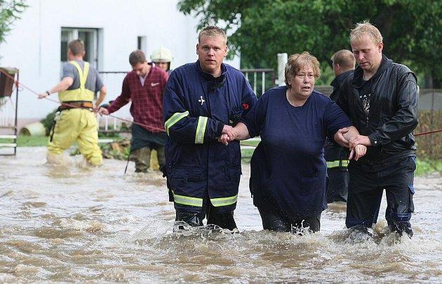 Loňské záplavy na Děčínsku
