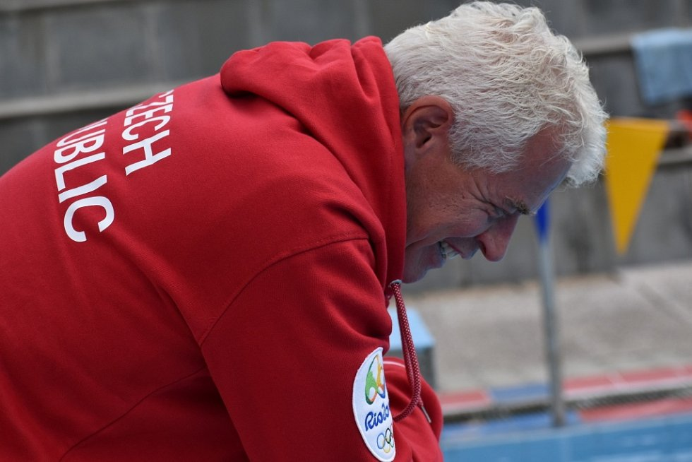 Trenér Petr Budínský.