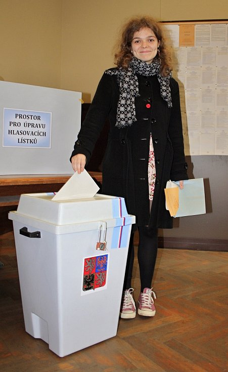 Doubravka Dostálová z Děčína byla letos volit poprvé