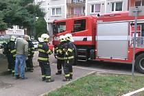 Zásah hasičů v Děčíně.
