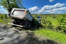 Nehoda kamionu na Valdeku.