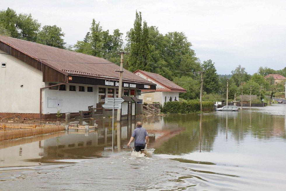 Bleskové povodně v Lipové.
