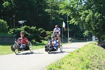 Handicapovaný vozíčkář Heřman Volf.