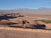 Okolí San Pedra z vyhlídky Valle de la Muerte.