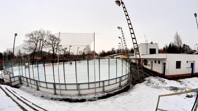 Zimní stadion Varnsdorf, jak vypadal dříve.