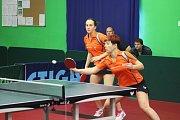 Sport stolní tenis 1. liga ženy SKST Děčín - Slavoj Praha.
