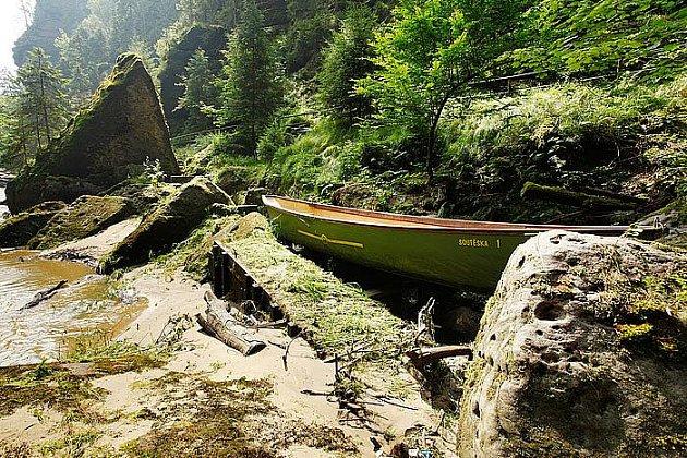 Velká voda v soutěskách Národního parku České Švýcarsko