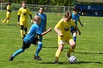 Utkání turnaje mladších žáků mezi Varnsdorfem a Českou Kamenicí. Varnsdorf vyhrál 2:0.