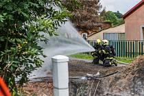Hasiči zasahovali u požáru plynu ve Varnsdorfu.