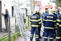 Požár v přízemí domu v Jiříkově.