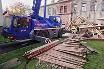 Demolice kina v Rumburku.