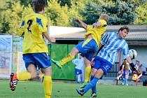 JIŘETÍN (v pruhovaném) doma udolal Chřibskou až na penalty.