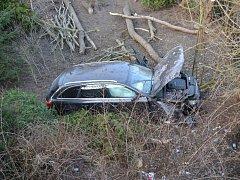 Dopravní nehoda v Benešovské ulici v Děčíně.