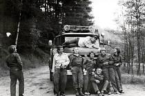Historická fotografie krásnolipských hasičů.