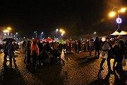 Rozsvícení vánočního stromu ve Varnsdorfu.