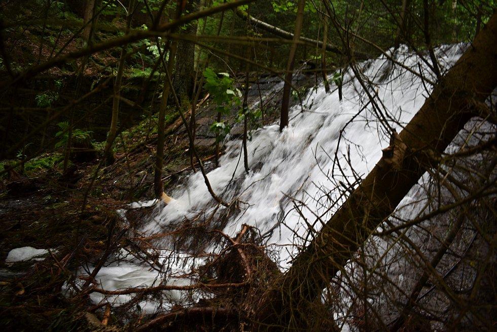 Velká voda zasáhla také Dolní Žleb na Děčínsku