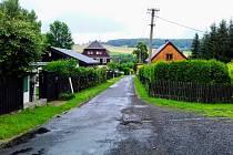 Oprava silnice v Dolním Podlužím Podluží.