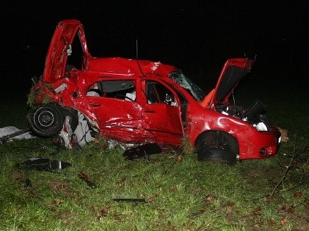 Smrtelná dopravní nehoda na Kamenické ulici v Děčíně.