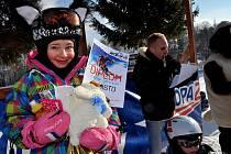 PODRUHÉ se konal ve sportovním areálu Jedlová Obří slalom.